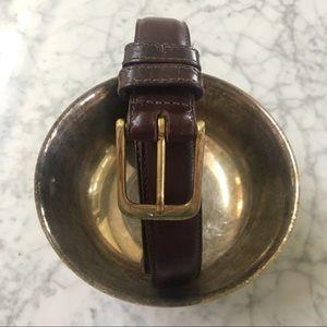 COACH Leather Belt Brass Buckle